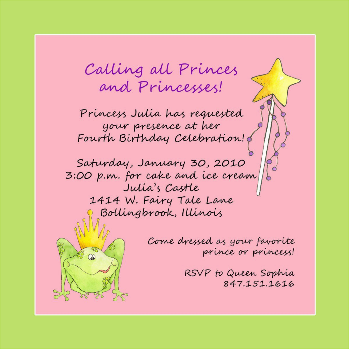 Invitation Birthday Party Message