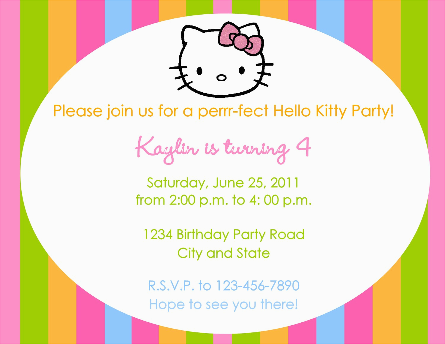 Invitation To A Birthday Party Text Birthdaybuzz Jpg 1499x1159 Invitations Hello Kitty Wording