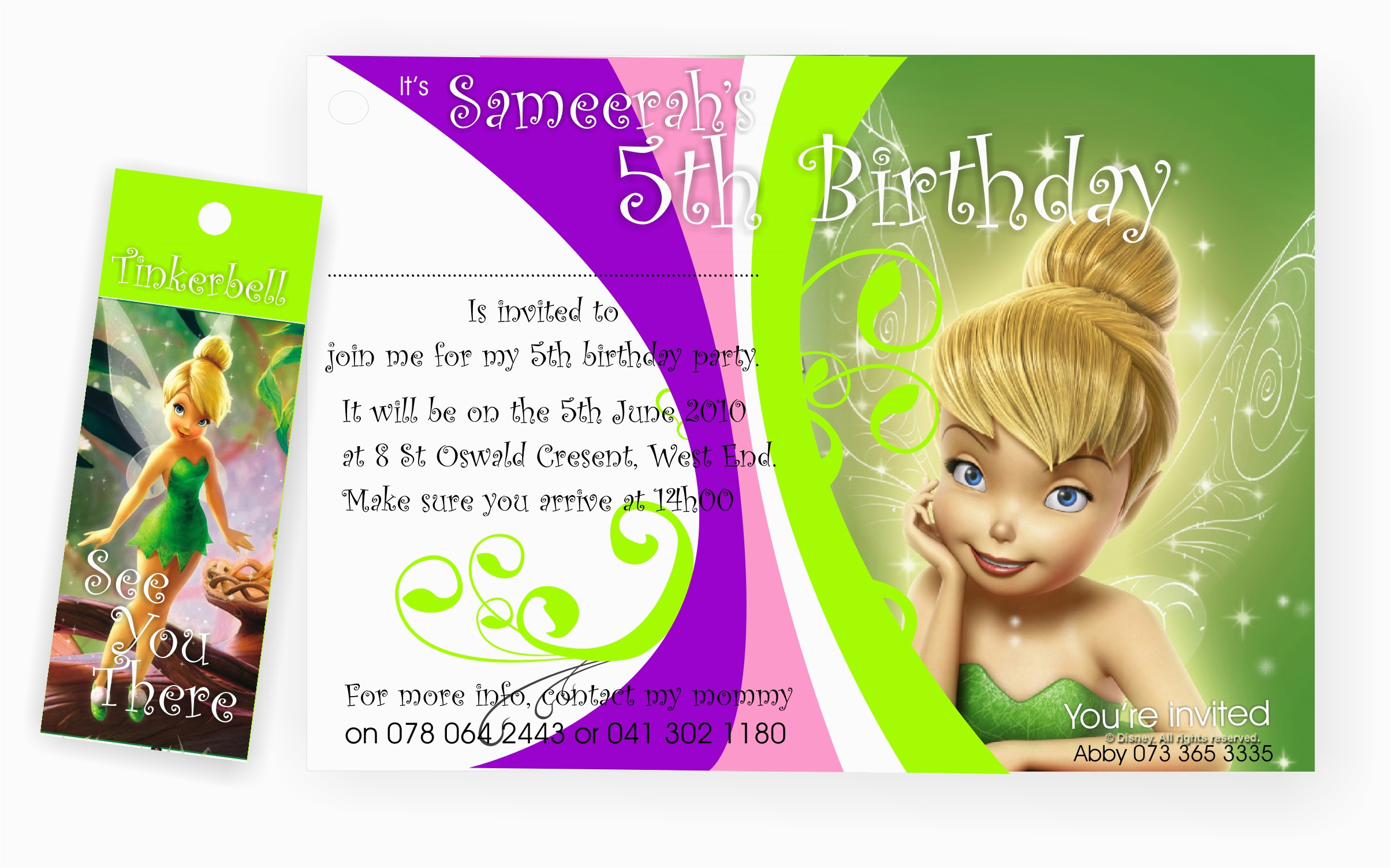 5th birthday party invitation