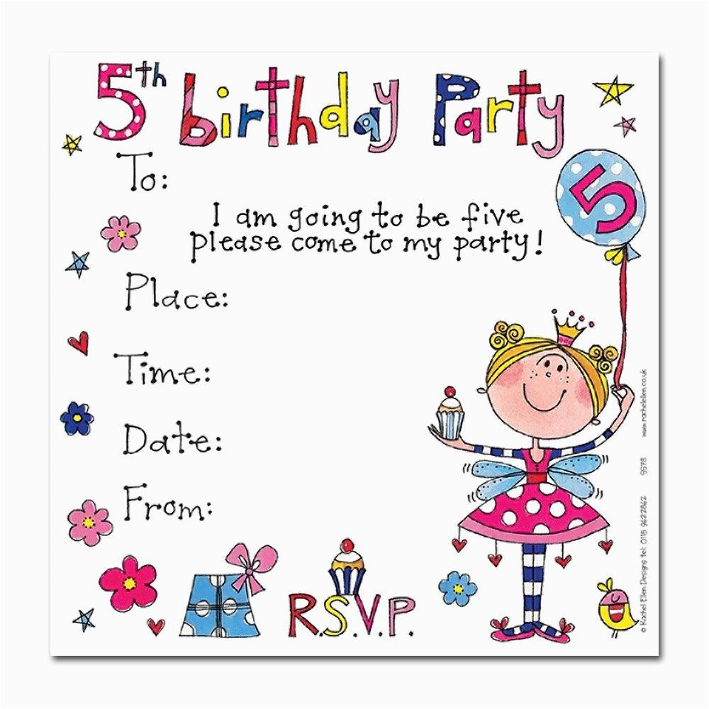 5th birthday party invitations