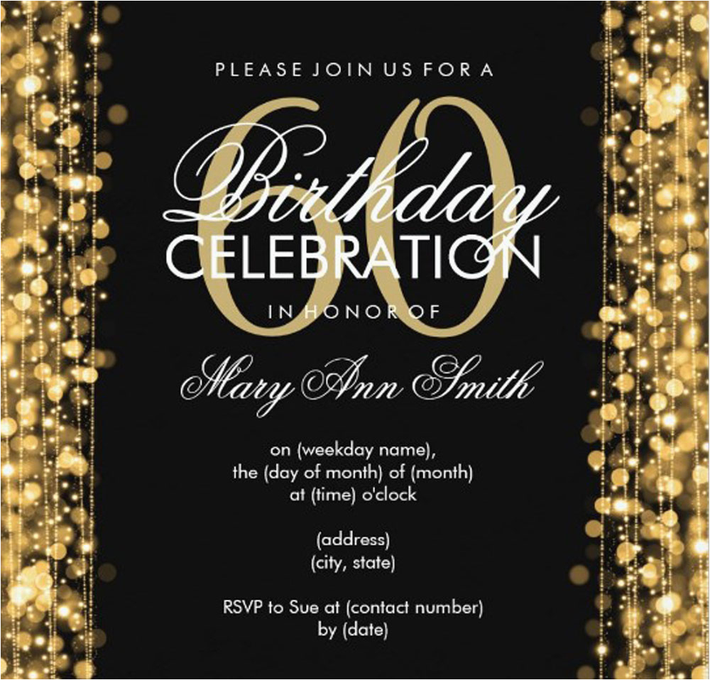 Invitation Wording For 60th Birthday Party 20 Ideas Invitations Card Templates