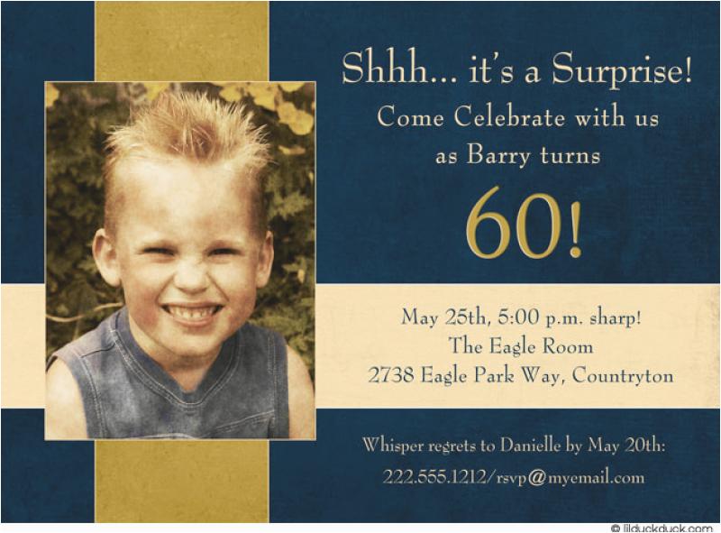 free 60 surprise birthday invitation template wording