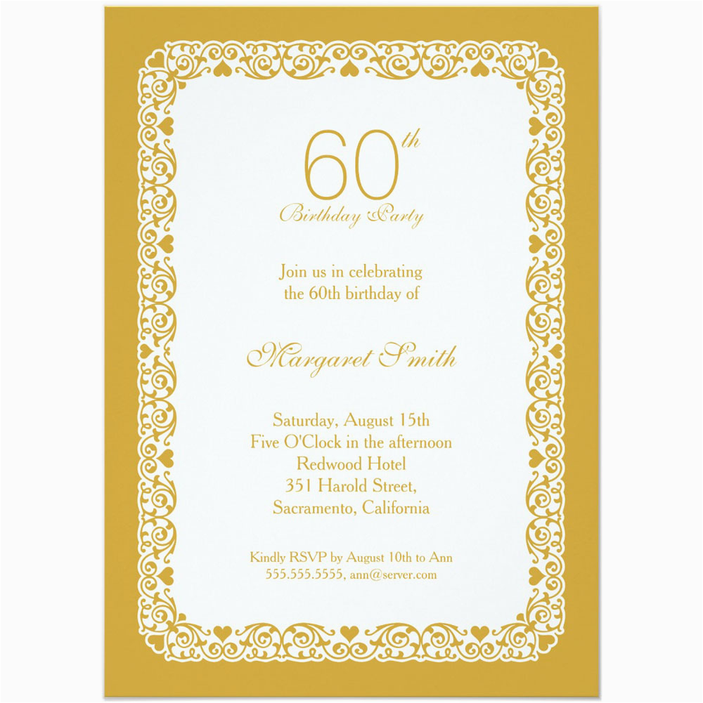 Invitations 60th Birthday Celebration 20 Ideas Party Card Templates