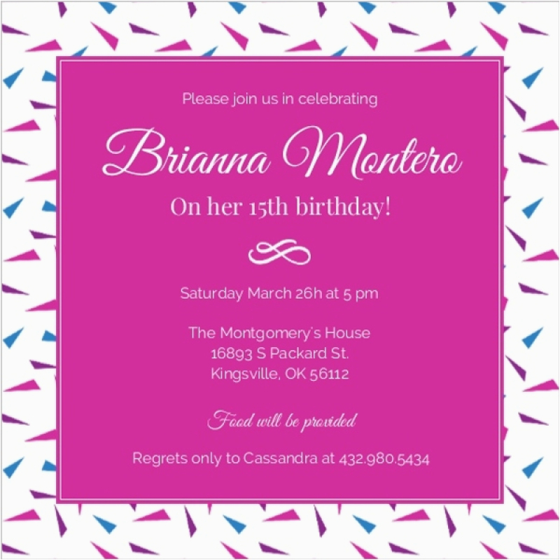 invitation for 15 birthday party