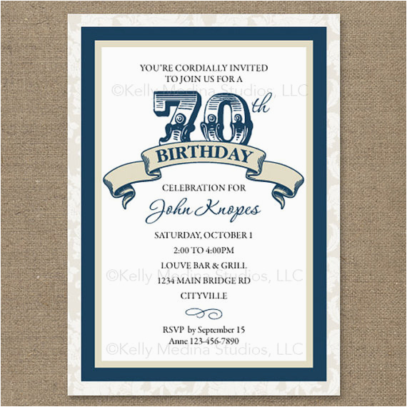 Invitations For 70th Birthday Party Templates 8 Your Ideas