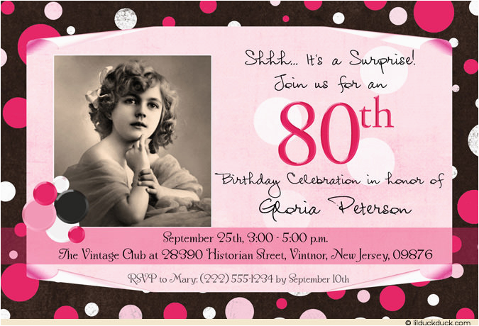 Invitations For 80th Birthday Surprise Party Free Printable