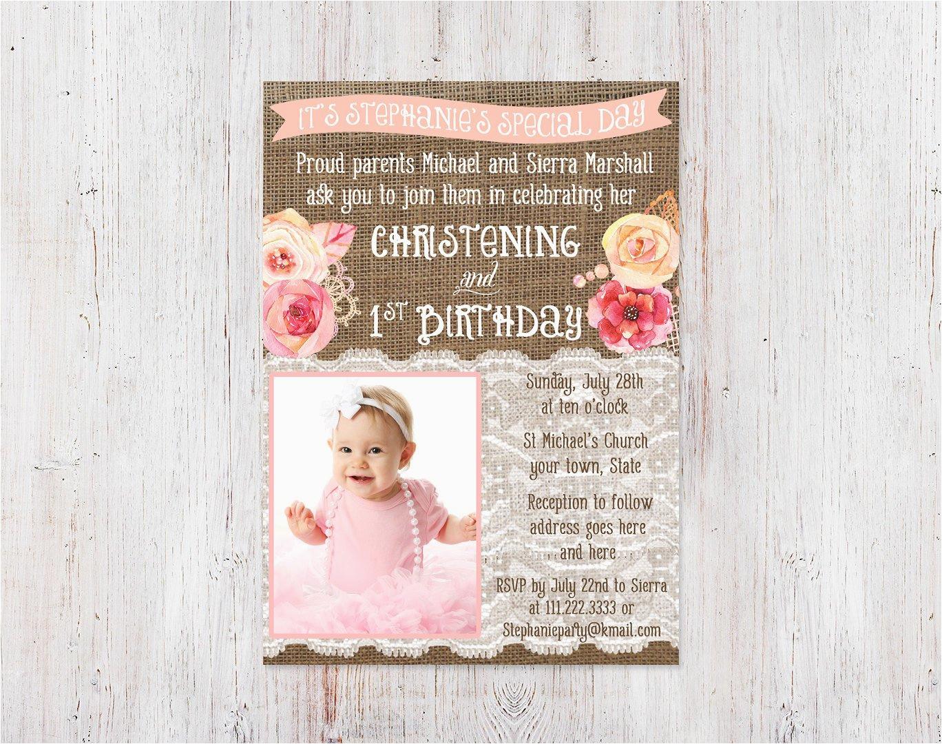 christening and 1st birthday invitations bautizo 1er cumple