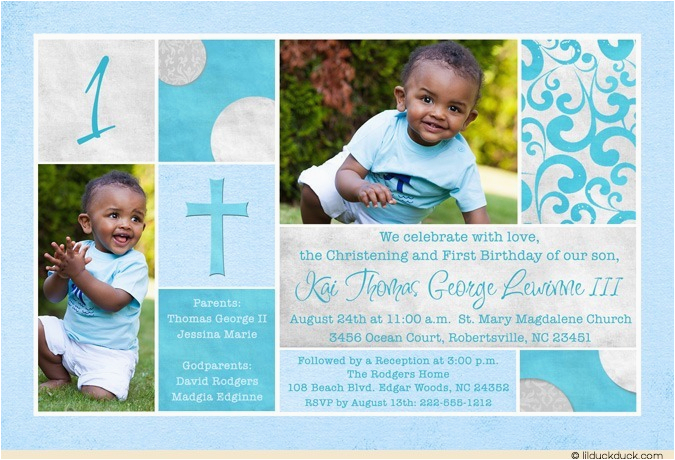 Invitations for Baptism and 1st Birthday together First Birthday and Baptism Invitations Dolanpedia