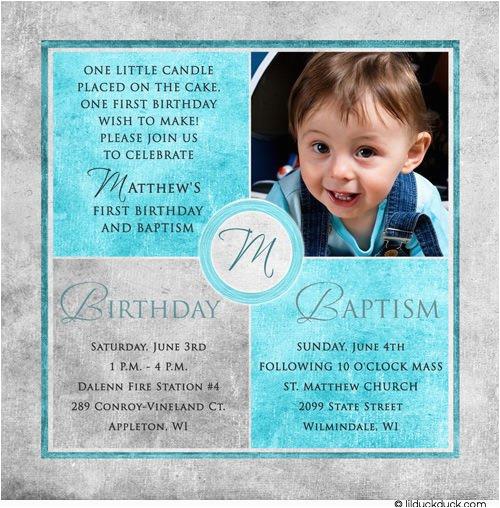 free printable first birthday and baptism invitation