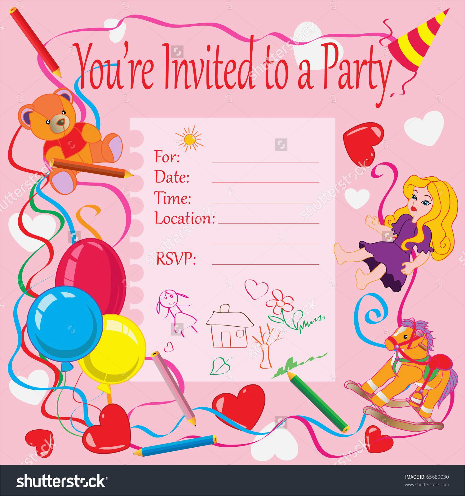 Inviting Cards For A Birthday 4 Step Make Your Own Invitations Free Sample