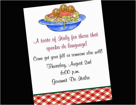 Italian Birthday Party Invitations Italian Dinner Funny Clipart Clipart Suggest