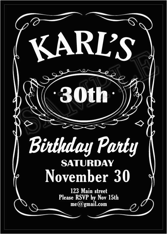 Jack Daniels Birthday Invitation Template Free Printable Themed Party