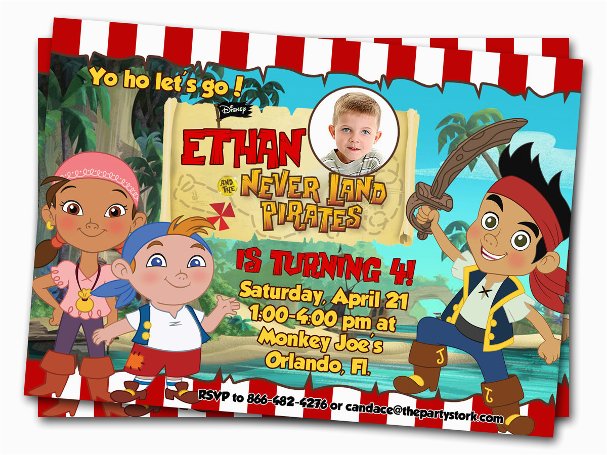 jake and the neverland pirates birthday invitations