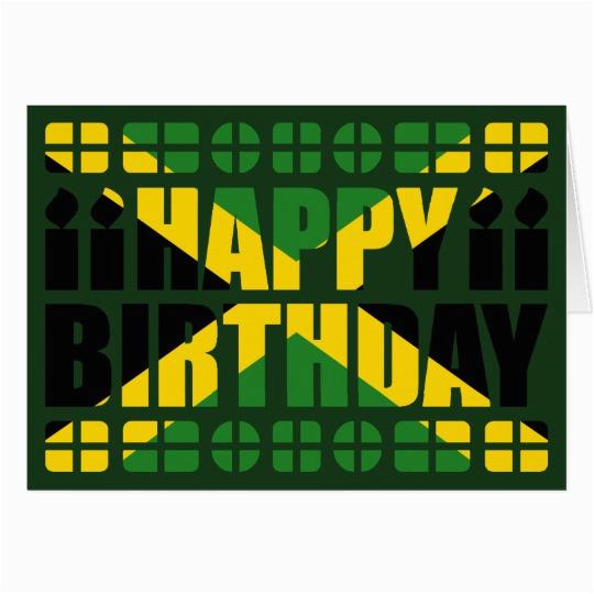 Jamaican Birthday Cards Jamaica Flag Birthday Card Zazzle