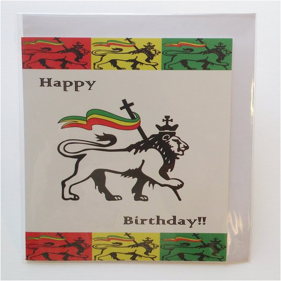 judah lion birthday card in jamaican