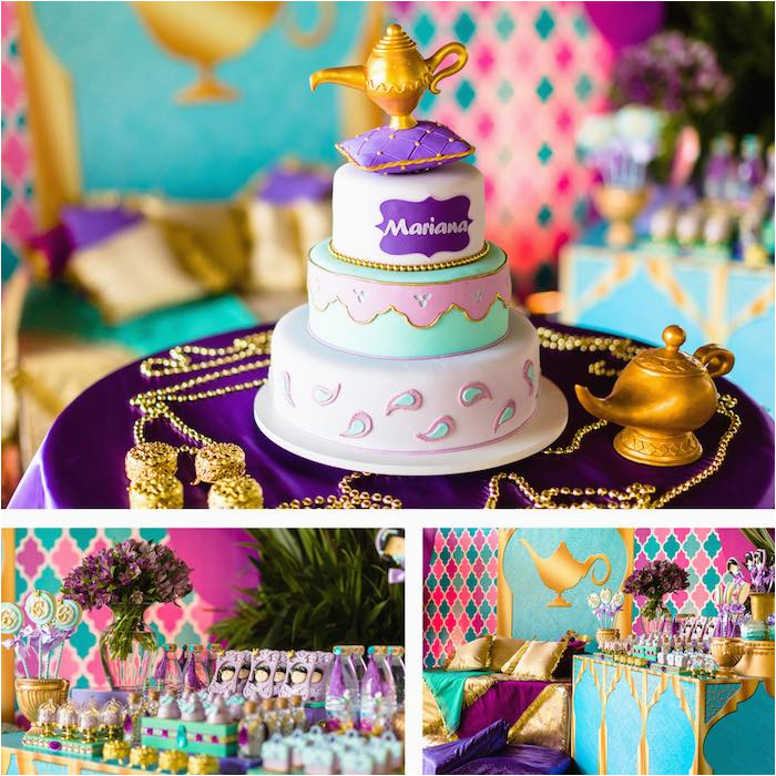 Jasmine Birthday Party Decorations Kara 39 S Ideas Princess