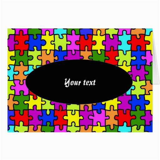 39 colorful jigsaw puzzle 39 greeting card zazzle