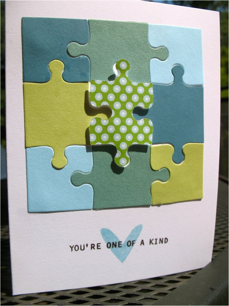 8 best cards with puzzle pieces images on pinterest