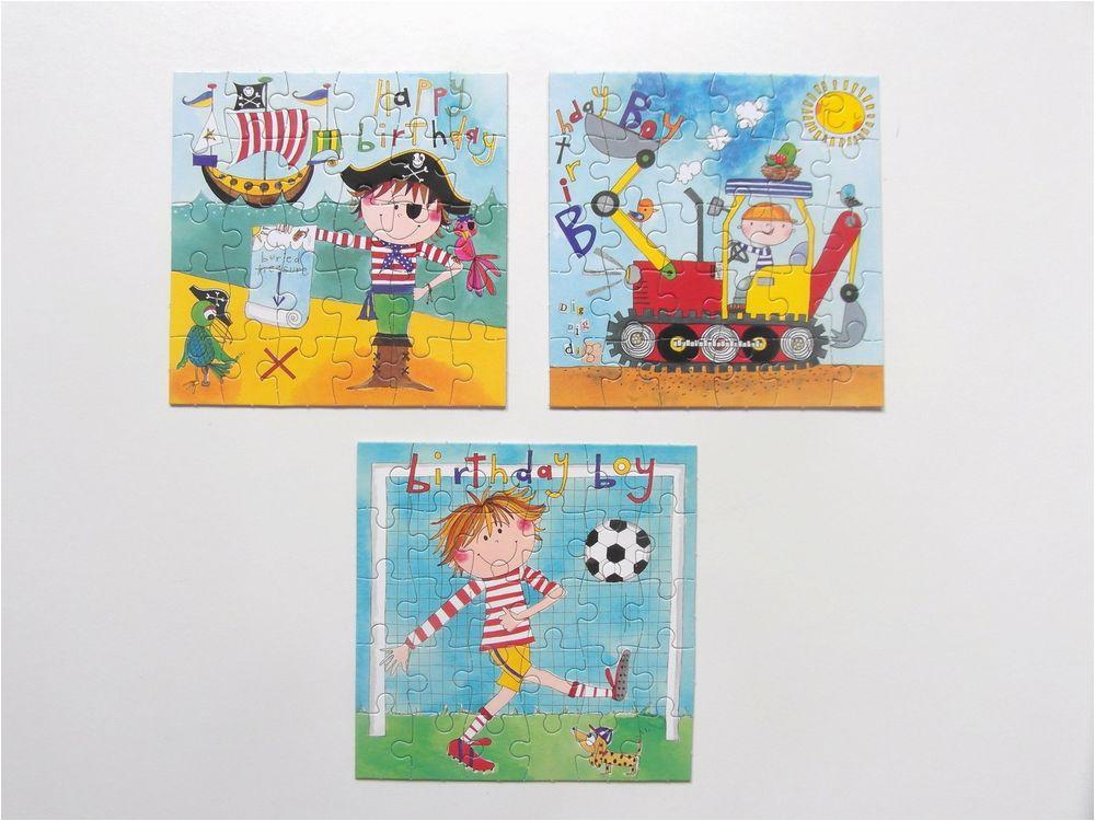 boys jigsaw puzzle birthday cards football pirate