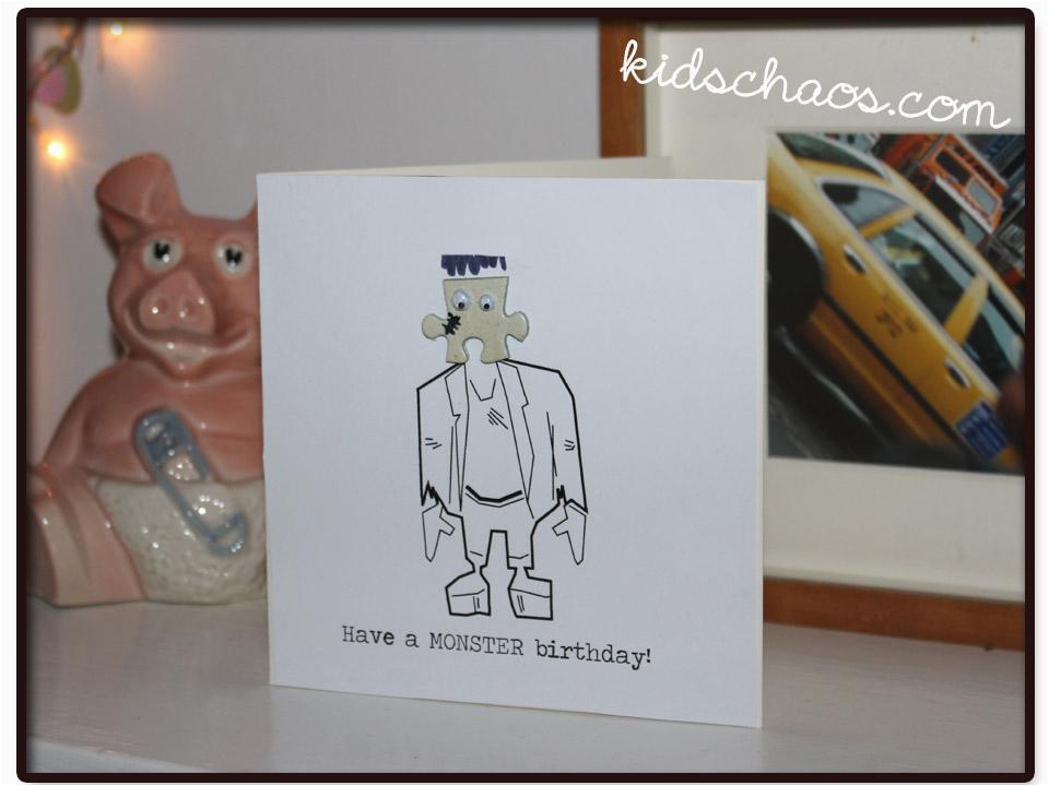 jigsaw puzzle piece crafts greetings cards kidschaos com