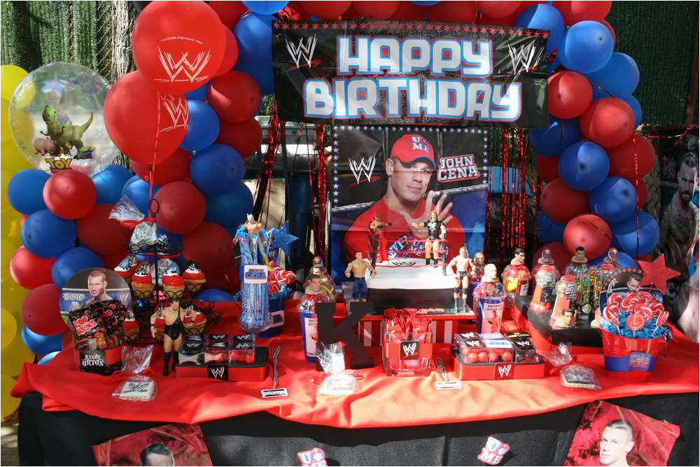 wwe party birthday party ideas photo 3 of 3 catch my party 3