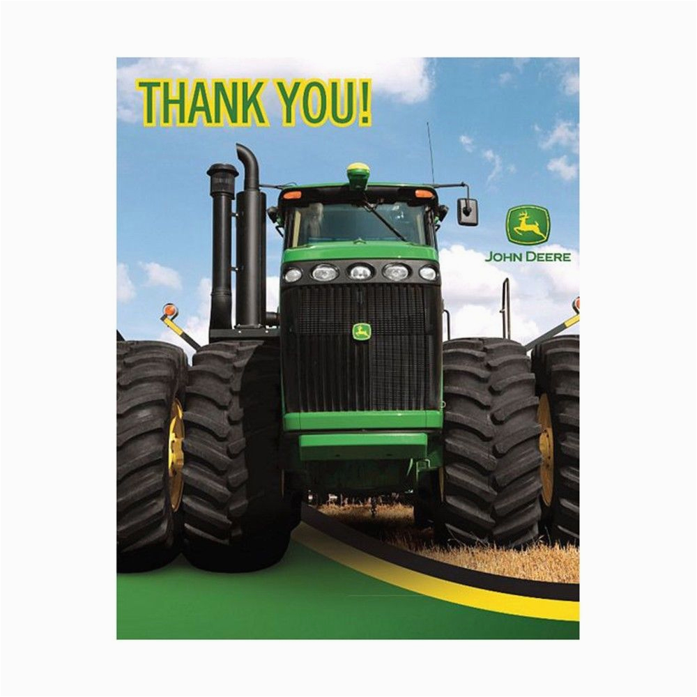 8 john deere farm tractor happy birthday party thank you