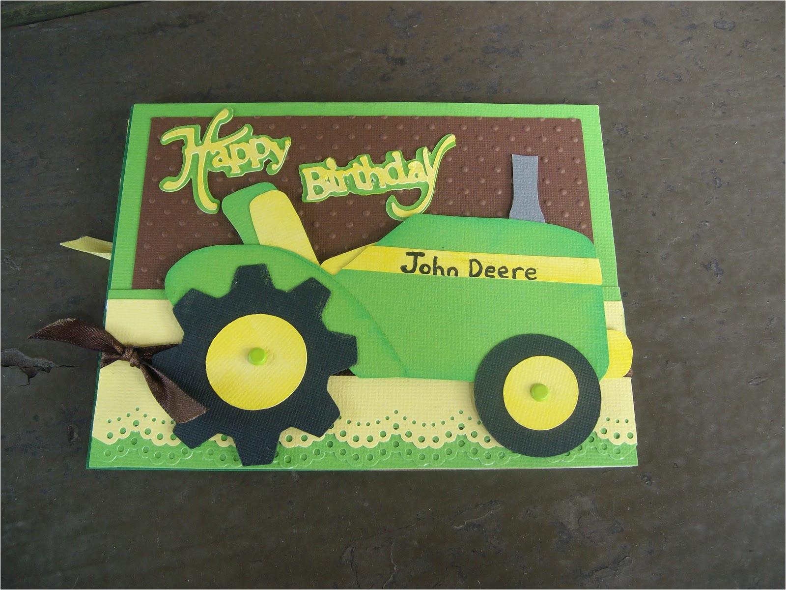 john deere happy birthday card