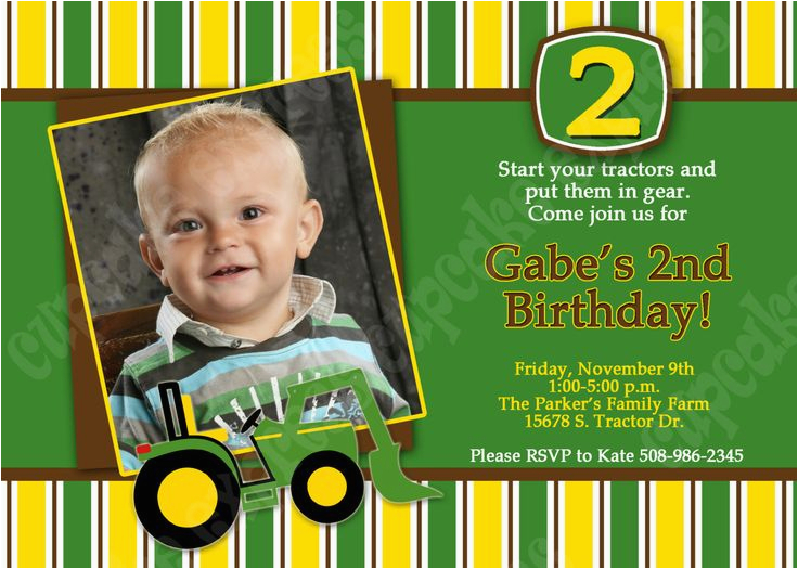 John Deere Birthday Invitation Templates Free Printable Invitations