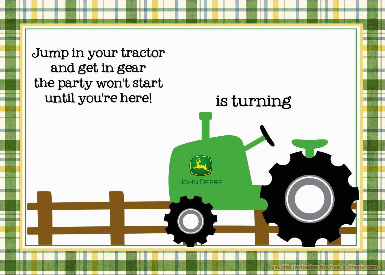 John Deere Birthday Invitation Templates Free Free Printable John Deere Tractor Birthday Invitation
