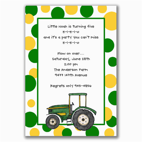 John Deere Birthday Invitation Templates Free Tractor Party Invitations Cimvitation