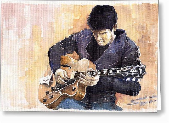John Mayer Birthday Card Jazz Rock John Mayer 02 Painting by Yuriy Shevchuk