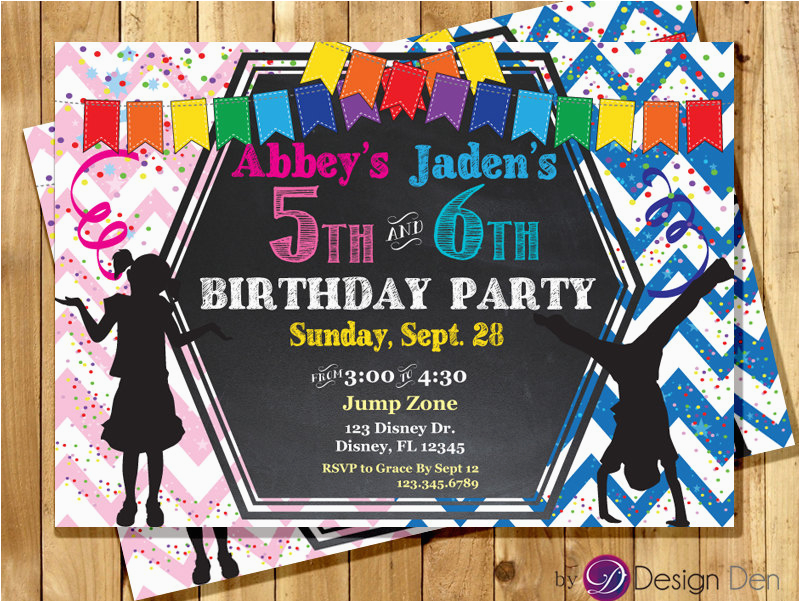 kids joint birthday party invitations
