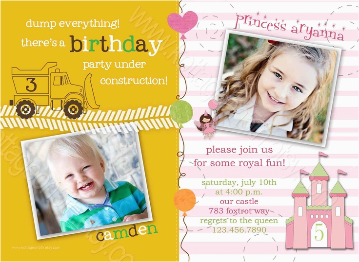 simple design joint birthday party invitations free