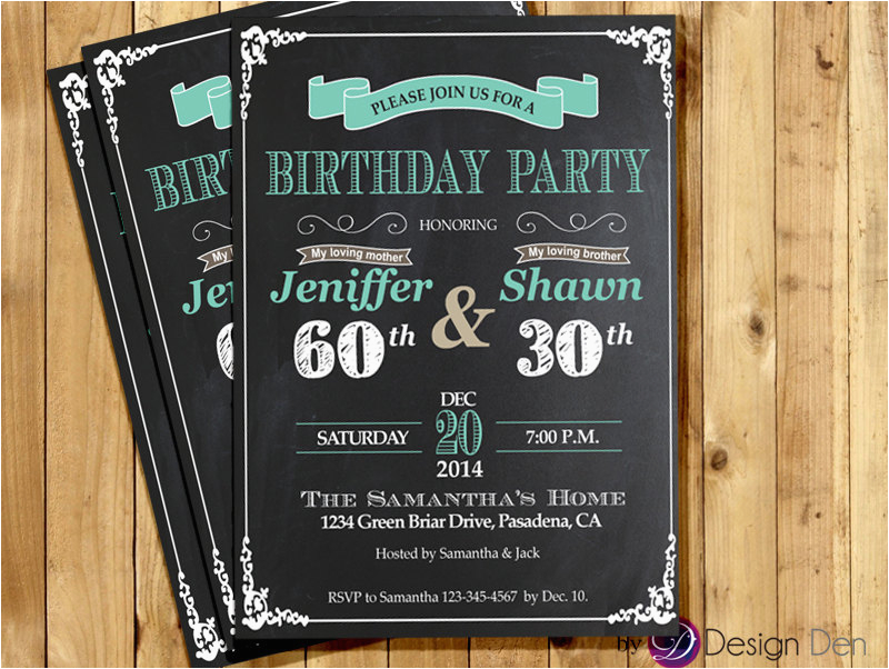joint birthday party invitations for adults cimvitation