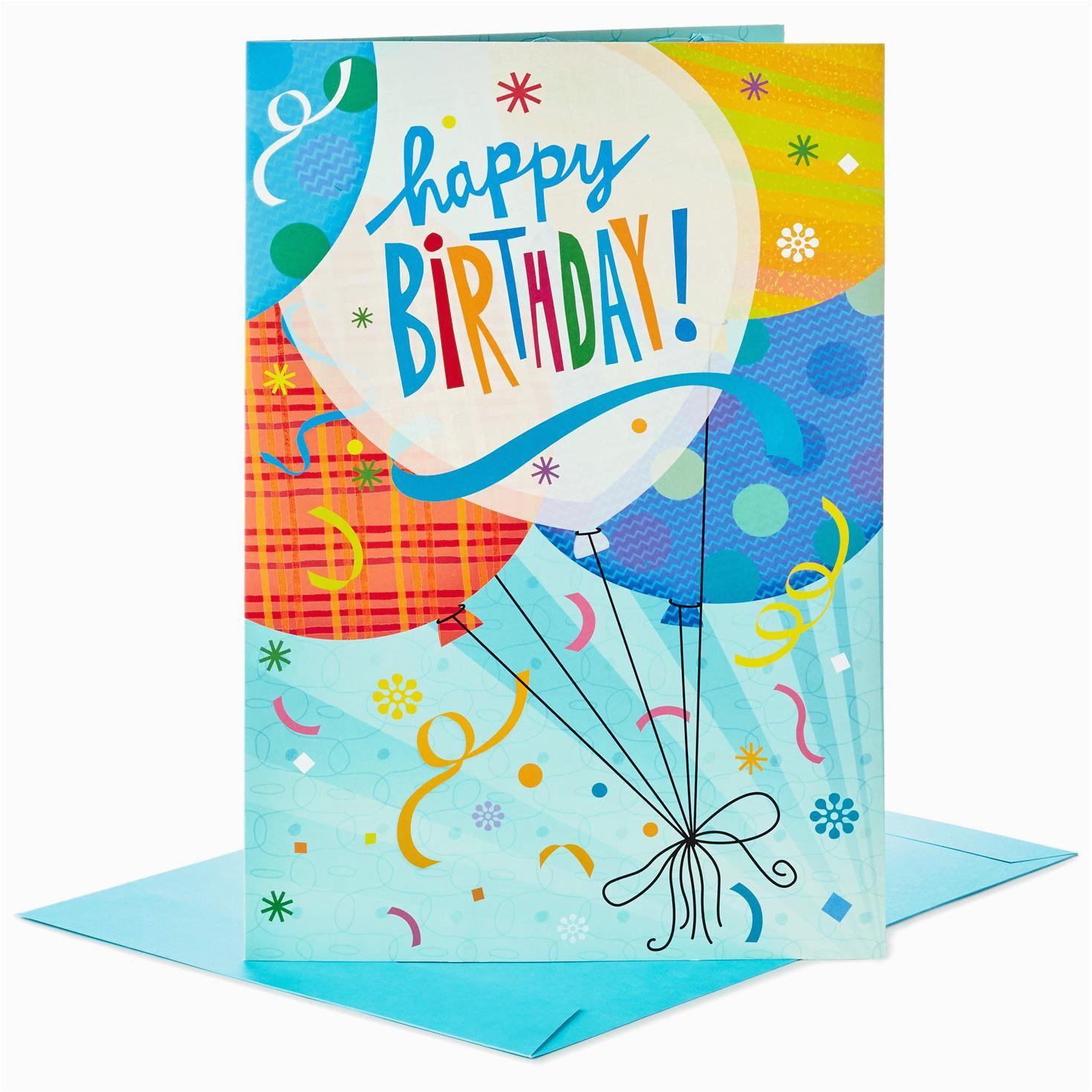 balloons for fun pop up jumbo birthday card 16