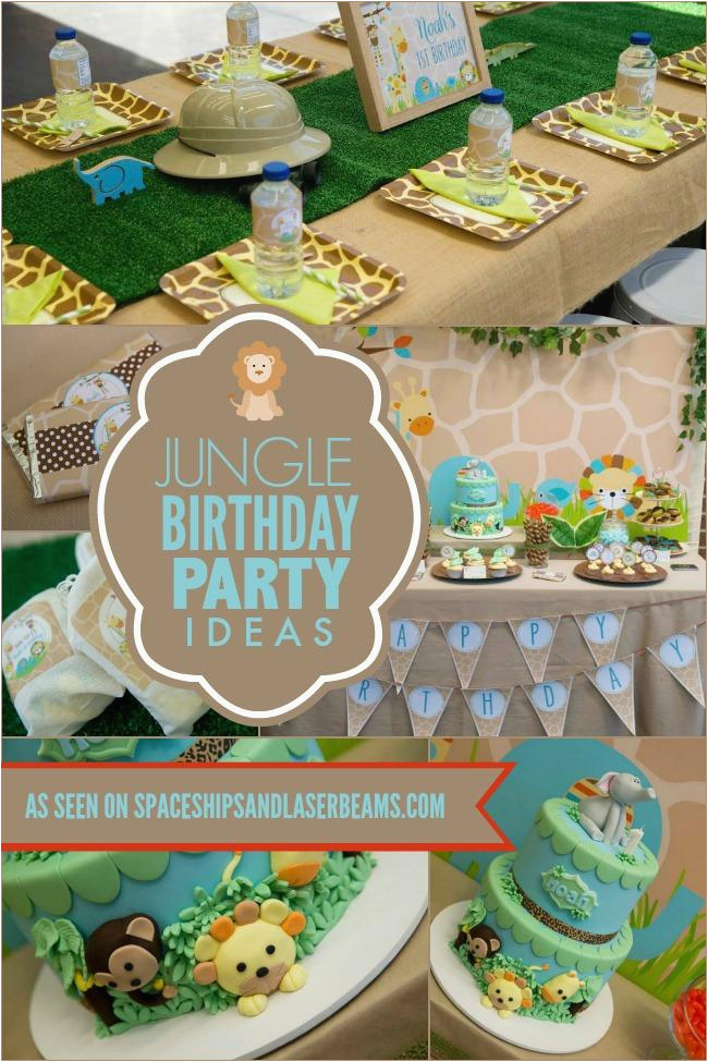 a little boys first jungle safari birthday party