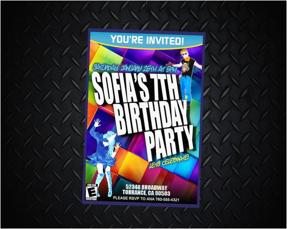 just dance 2014 invitations personalized