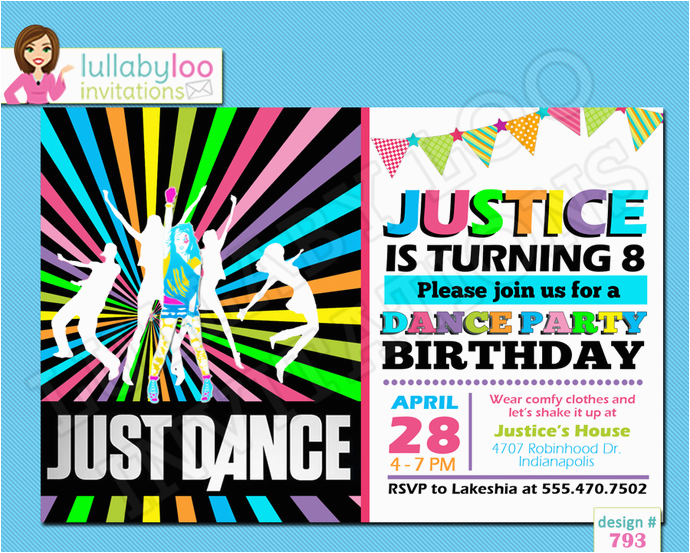 just dance birthday invitations printed birthday invitations custom invitations