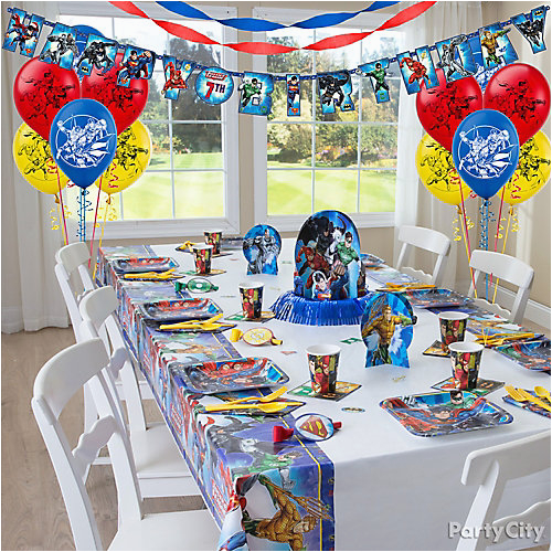 Justice League Birthday Decorations Party Table Idea City