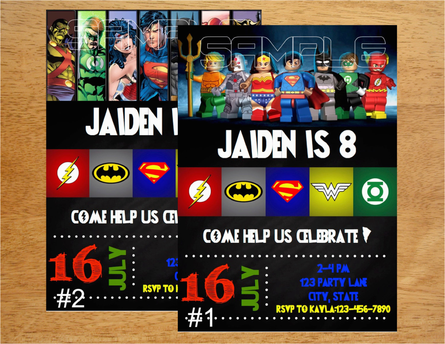 Justice League Birthday Invitations Printable Invitation Digital File By