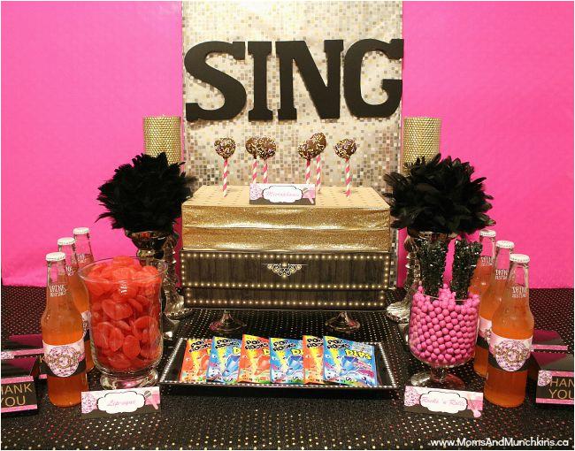 Karaoke Birthday Party Decorations Karaoke Party Ideas and Printables Moms Munchkins
