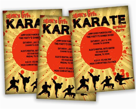 Karate Birthday Invitations Free Printable Printable Karate Birthday