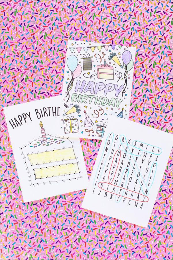 Kids Birthday Cards To Print Free Printable For Studio Diy
