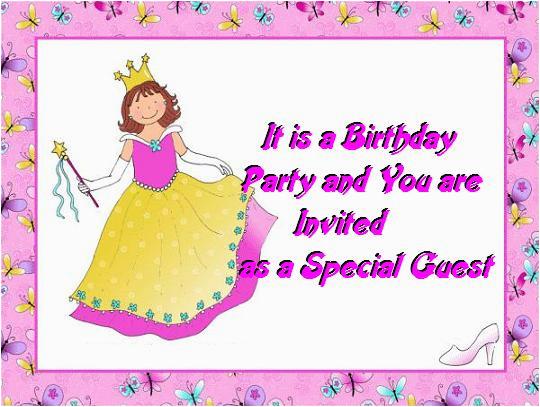Kids Birthday Invitation Messages Kids Birthday Invitations Post Card From 365greetings Com