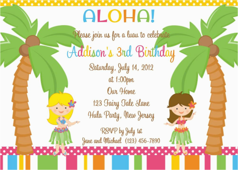 Kids Birthday Party Invitation Message 18 Invitations For Free Sample Templates