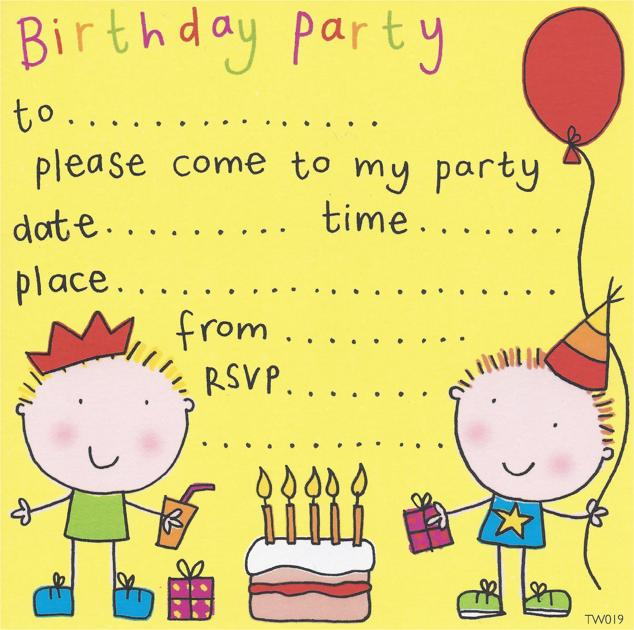 free birthday party invites for kids