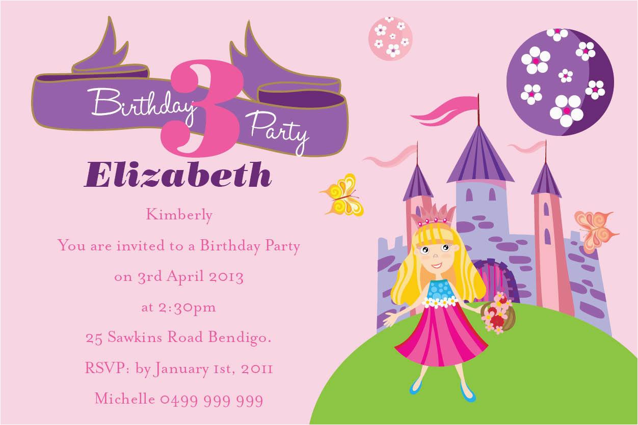 Kids Birthday Party Invite Wording Invitation For Free