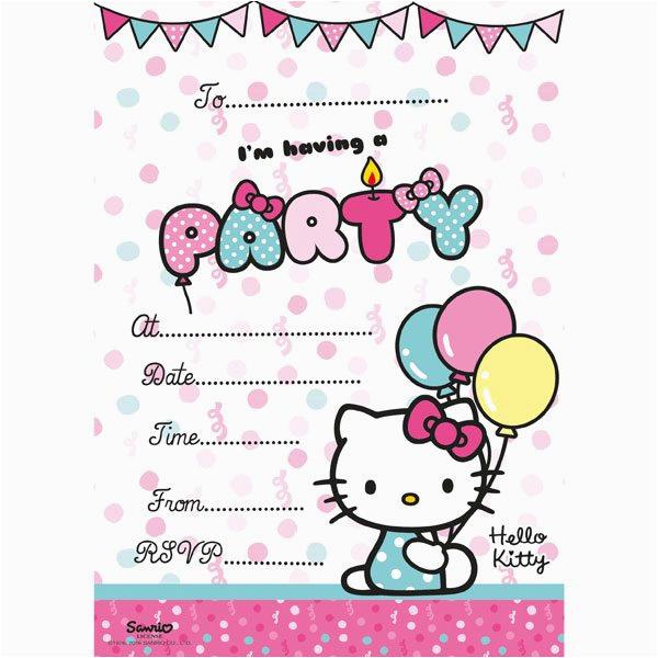 hello kitty party invitation cards