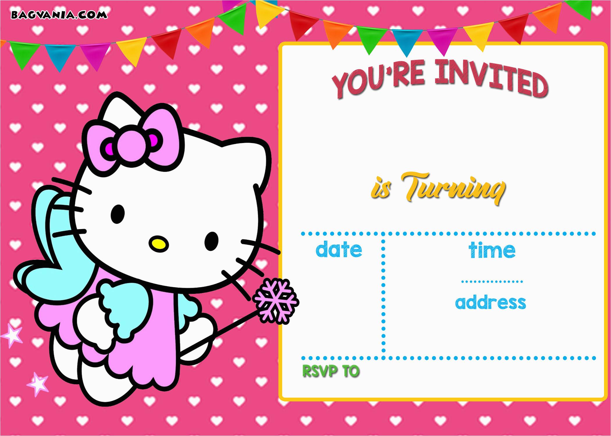 personalized hello kitty birthday invitations