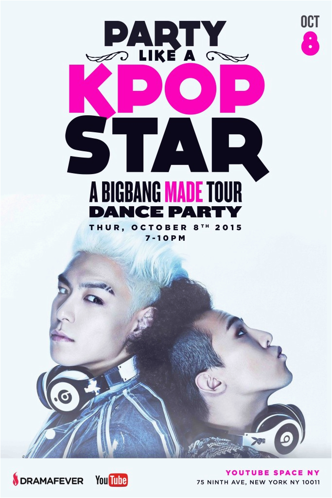 big bang dance party at ny youtube spaces presented by dramafever